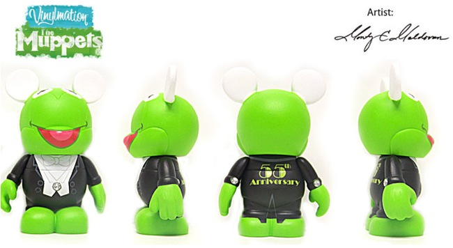 Disney Vinylmation The Muppets Series 1 - 55th Anniversary Kermit the Frog in Tuxedo Mystery Chase Figure 3 Inch Vinyl Figure