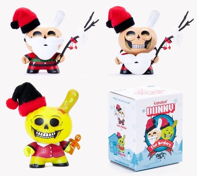 Kidrobot - The Burglars Santa Barbaja and Burglarcillo by Saner and Packaging