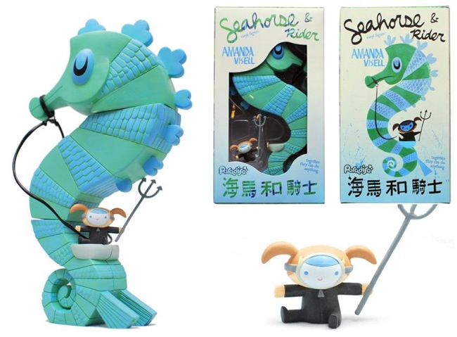 Seahorse and Rider Vinyl Figure Original Colorway by Amanda Visell
