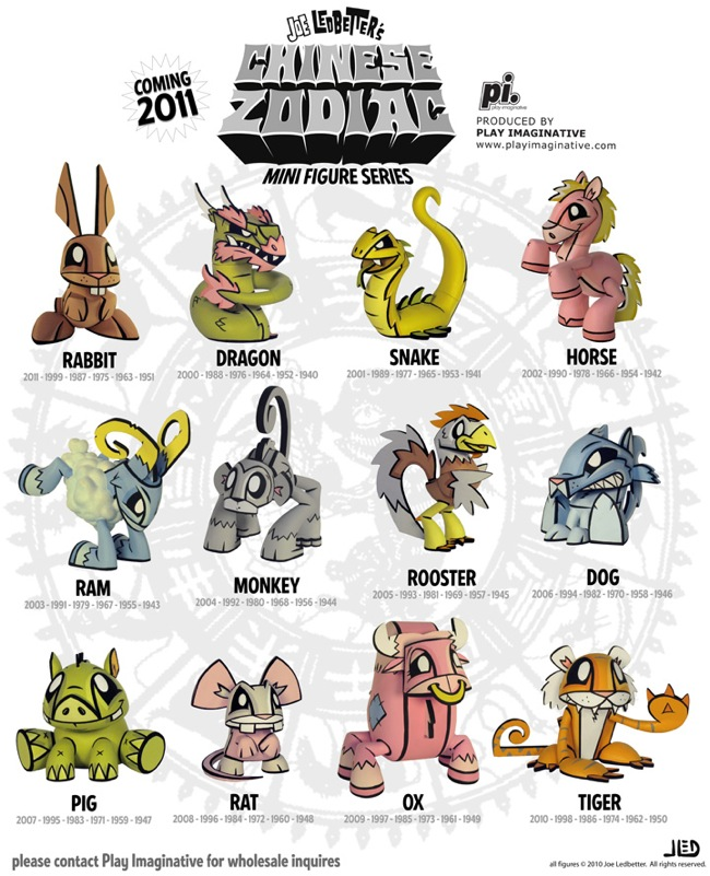 Joe Ledbetter's Chinese Zodiac Mini Figure Series