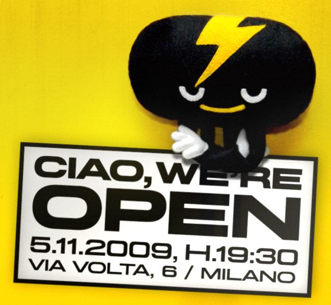 ciao, we're open... l'attesa è finita!