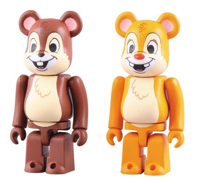 Disney x Medicom Chip 'n Dale Bearbrick 2 Pack