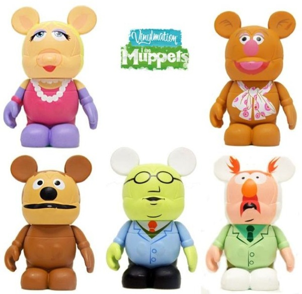 Disney Vinylmation The Muppets Series 1 - Miss Piggy, Fozzie Bear, Rowlf, Dr. Bunsen Honeydew & Beaker 3 Inch Vinyl Figures