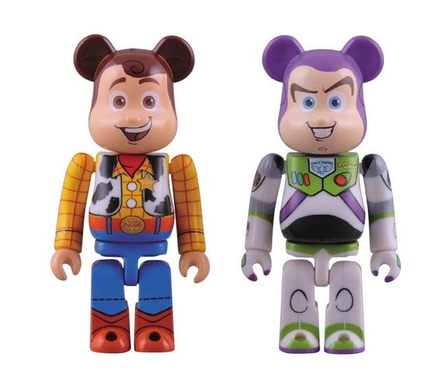 Toy Story 3 Bearbrick Set - Woody & Buzz Lightyear  Bearbricks