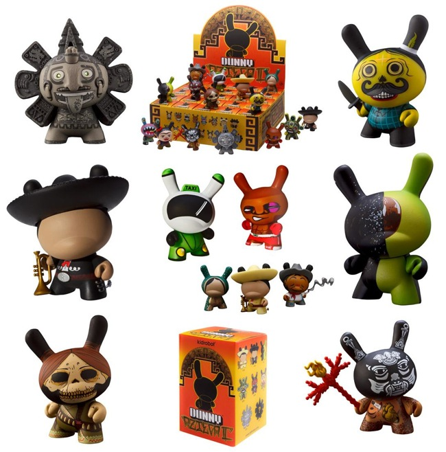 Kidrobot Dunny Azteca II Series Various Figures and Packaging